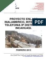 Perfil Del Proyecto Internet Incahuasi Tel2fe
