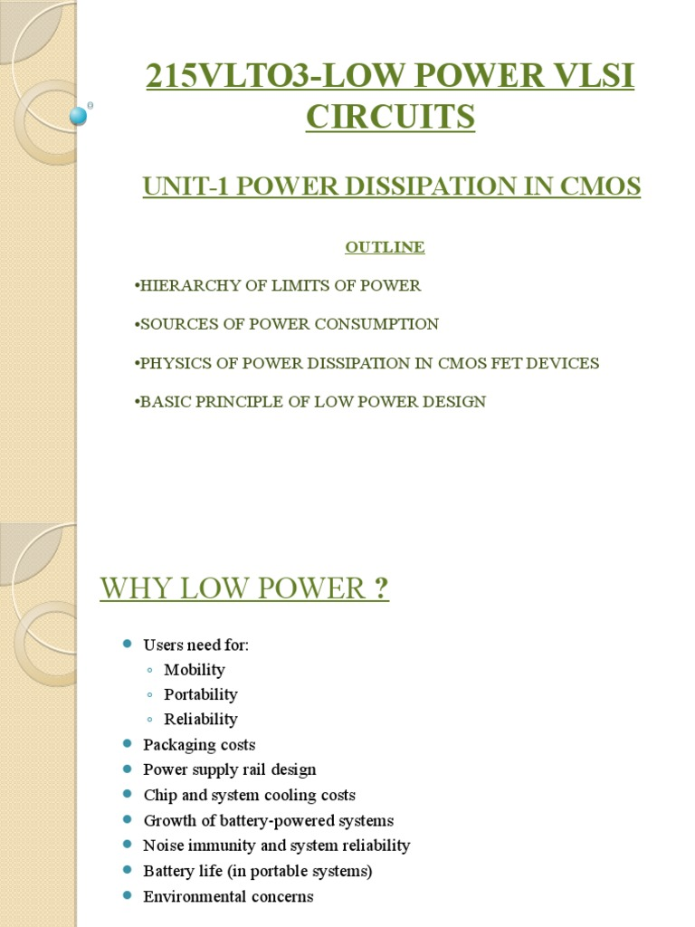 Low power ppt unit 1 cmos field effect transistor falaconquin