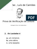 Os Lusíadas - Teste Verificação Leitura