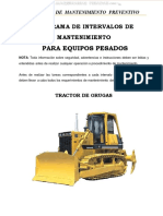 Manual Programa Intervalos Mantenimiento Horas Maquinarias Pesadas Inspeccion Revision Lubricacion Servicio
