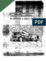 Manual Mineria Cielo Abierto Tipos Yacimientos Metodos Sistemas Explotacion Operaciones Geomecanica