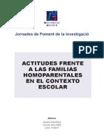 Actitudes hacia Familias Homoparentales