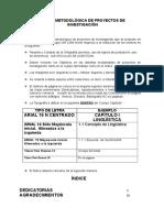 Lineamientos Metodológicos Ugm 2012. Curso
