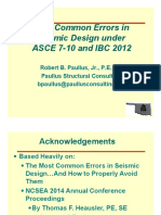 OSEA ASCE7-10 Most Common Errors in Seismic Design-04!14!15