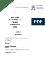 En IV 2014 Matematica Model2