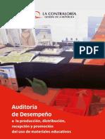 Auditoria de Desempeño a La Produccion Distribucion Recepcion y Promocion Del Uso de Materiales Educativos 2