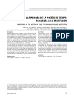 Variaciones de La Noción de Tiempo Psicoanalisis e Institucion