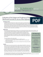 LTRC Technical Summary for Valuation of the Fatigue and Toughness of Fiber Reinforced Concrete for Use as a New Highway Pavement Design