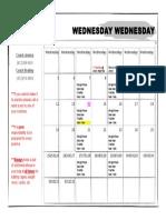 June Summer Practice Schedule