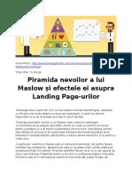 Ierarhia Nevoilor Si Efectele Ei Asupra Landing Pageurilor