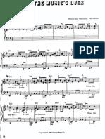When the Musics Over Piano Sheet Doors