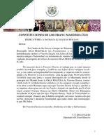 Constituciones Anderson 1723