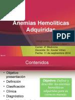 Anemias hemolíticas adquiridas