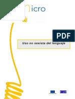 Uso de Lenguaje Sexista[1]
