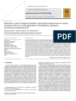 Reduction in Dose of Chemical Fertilizers and Growth Enhancement of Sesame Sesamum Indicum L With Application of Rhizospheric Competent Pseudomonas Ae