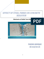 Behavior of Steel Fiber Reiforced Concrete