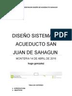 Diseño Planta de Acueducto Sahagun Pozo Profundo