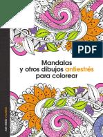 Mandalas y Otros Dibujos Antiestres Para Colorear