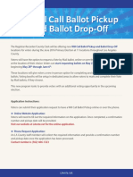 Will-Call Ballot Pickup and Ballot Drop-Off Locations