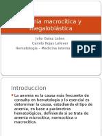 Anemia Macrocítica y Megaloblástica