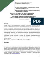 GALVES, Marcelo C. Política Em Tempos de Revolução Do Porto_Consitucionalismo e Dissenso No Maranhão