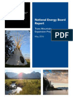 National Energy Board report on Trans Mountain expansion