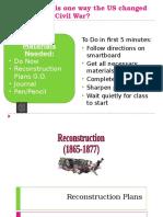 reconstruction plans