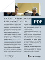 Culturally Relevant Education
