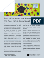 Early Exposure to and Preparation for College