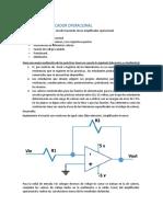 Práctica 6 Amplificadores Operacionales