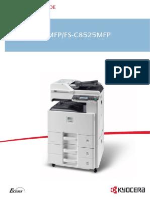 KYOCERA FS-C8520MFP MANUAL | Image Scanner | Fax