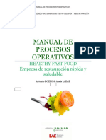 Manual de Operaciones del Restaurante Healthy Fast Food