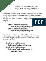 Hindi kita malilimutan dialects.pdf