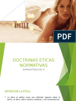 DOCTRINAS ETICAS NORMATIVAS