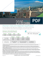 NLG Sicily Chairman's Club 2016 Qualification Flyer