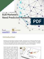 Mintigo Why B2B Marketers Need Predictive Marketing