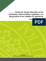Cortés - La Prevención de Riesgos Laborales en Las Enseñanzas Universitarias Españolas y Su Integ...