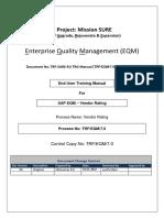 Sap Qm Vendor Rating User Manual