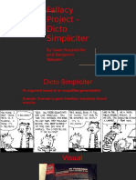 fallacy project - dicto simpliciter