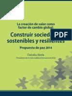 DaisakuIkeda-PdP-2014 Construir Sociuedaes Sostenibles y Resilentes