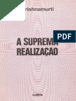 A Suprema Realização - J. Krishnamurti
