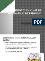 Experimentos en Clase de Matemáticas de Primaria