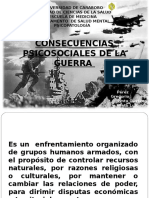 Consecuencias Psicosociales de La Guerra