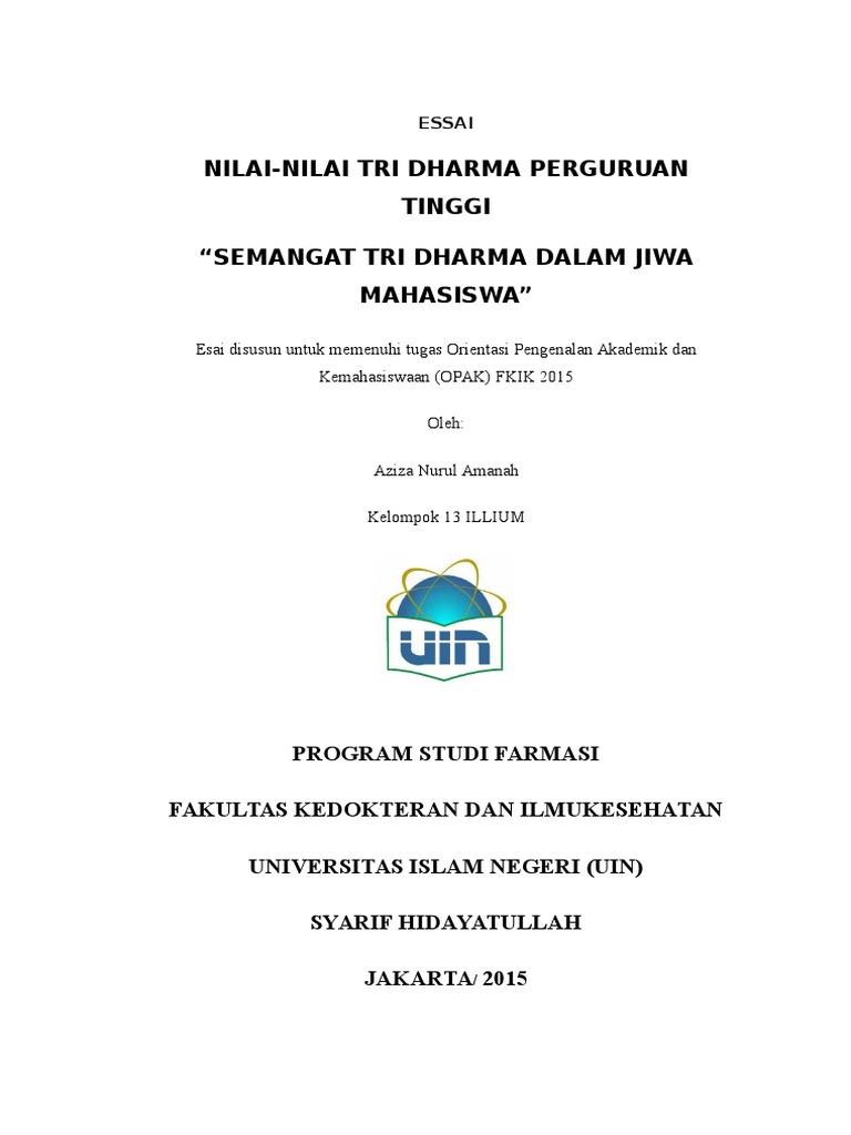 essay tentang tri dharma perguruan tinggi