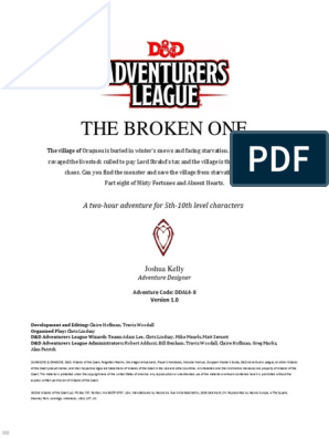 The Broken One: A two-hour adventure for 5th-10th level