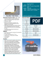 Asahi Duo-Bloc Ball Valve Data