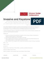 invasive and keystone species ldc
