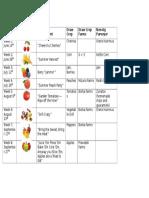 microsoft food calendar pics