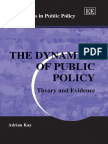 PUBLIC POLICY the Dynamics of Public Policy Theory and Evidence
