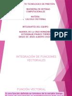 INTEGRACION DE FUNCIONES VECTORIALES